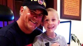 Firefighter comes to rescue of first responders with sick kids
