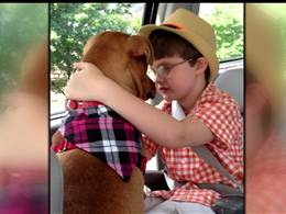 Unlikely bond saves boy and dog