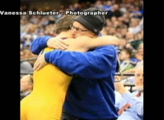 High school wrestler's touching gesture moves crowd to tears