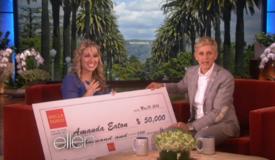 Ellen: Amanda Eaton Big Teacher Surprise & Giving Back to Her Students