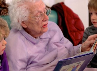 Poignant moments unfold at a preschool in a retirement home