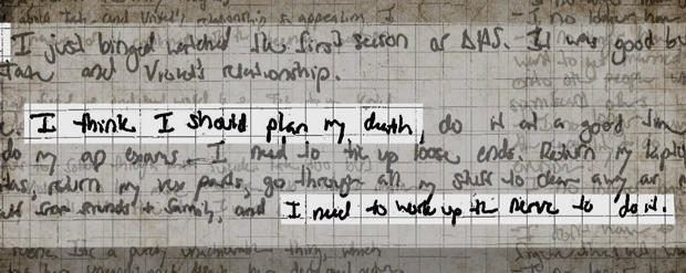 A lost girl's diary: The hidden anguish of Alexandra Valoras